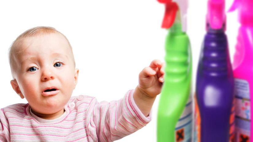 jed, otrava, chemikálie, čistiace prostriedky,...