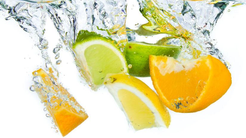 voda, smäd, citrus, pomaranč, citrón, limetka
