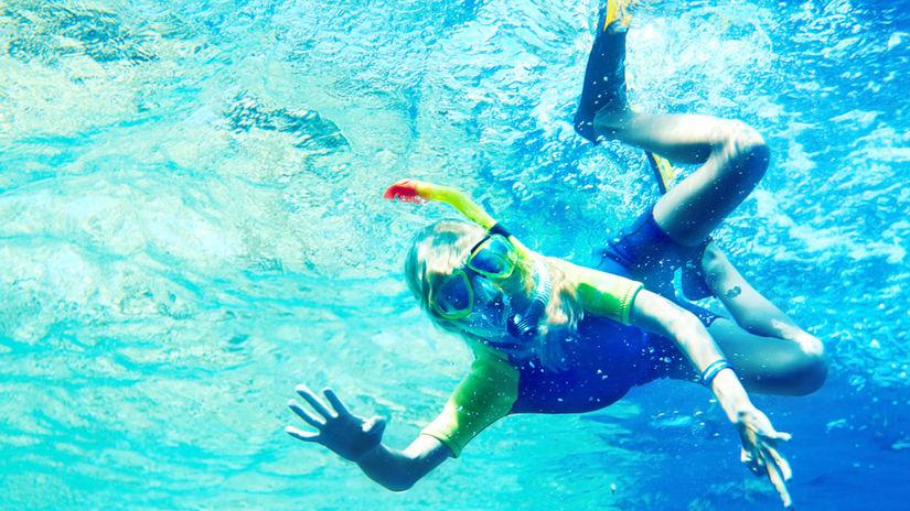 voda, dovolenka, more, potápač