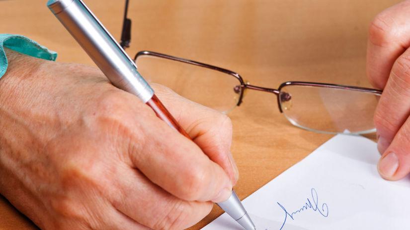 podpis, závet, zmluva, dedičstvo
