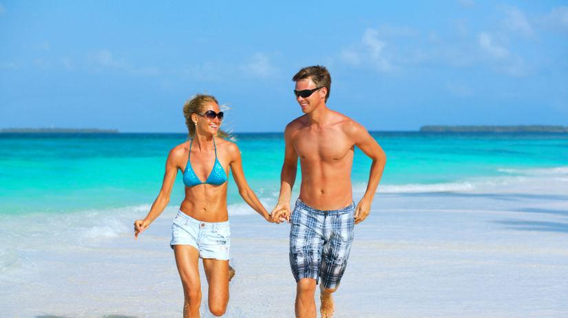 láska, beh, milenci, leto, pláž, dovolenka, more
