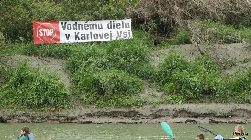protest, vodné dielo, Bratislava, vodák