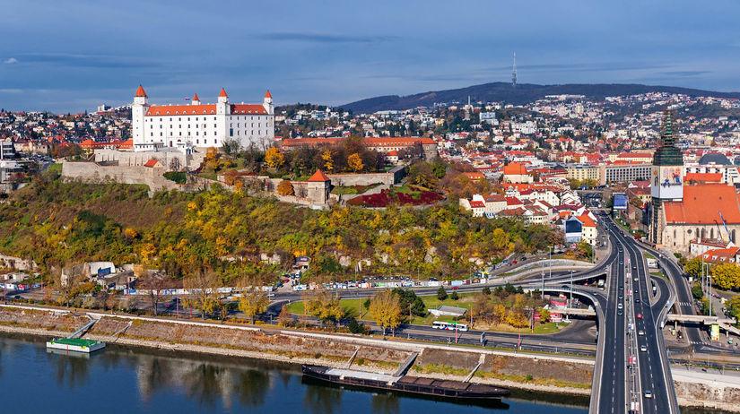 Bratislava, Most SNP, Bratislavský hrad