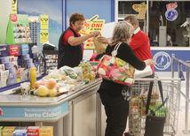 hypermarket, pokladňa, obchod