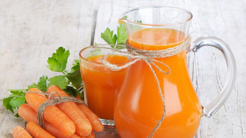 mrkva, mrkvová šťava, antioxidant, karotén