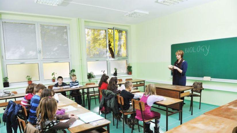 trieda, škola, deti, učiteľ
