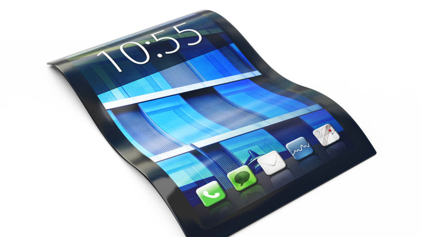 ohybný displej, smartfón, zakrivený displej