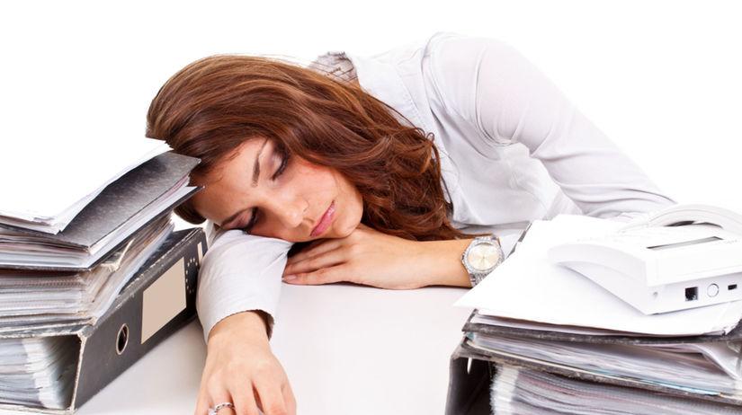únava, zamestnanie, organizácia práce