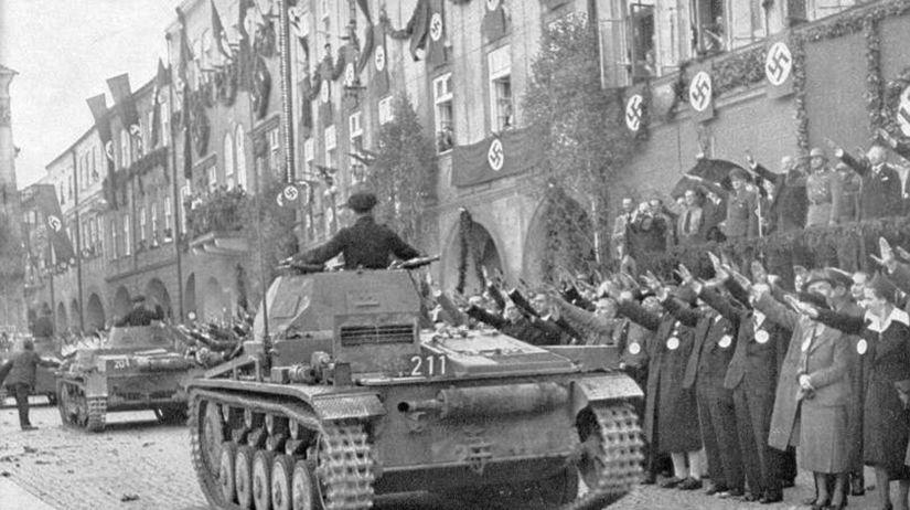 Vojna, 1938, Nový Jičín, nemci, hitler,...