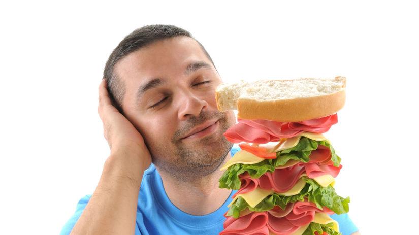hlad, jedlo, potraviny, výživa, sendvič, šunka,...