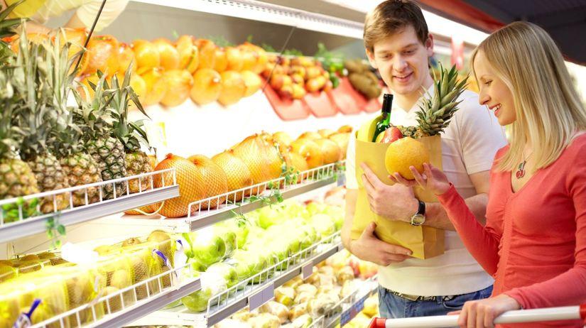 obchod, nákup, ovocie, zelenina, zdravá strava