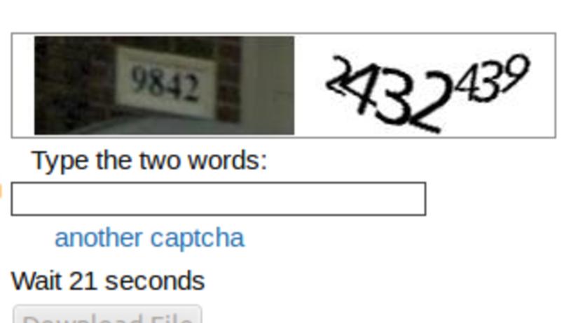 captcha kód, algoritmus
