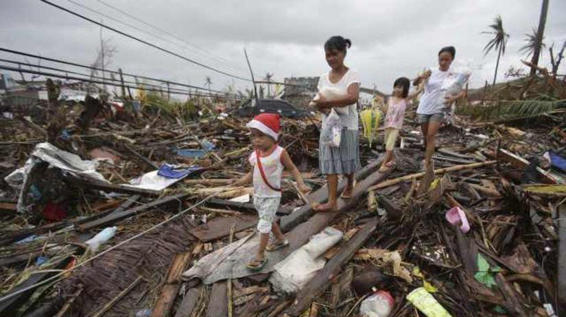 Filipíny, tajfún