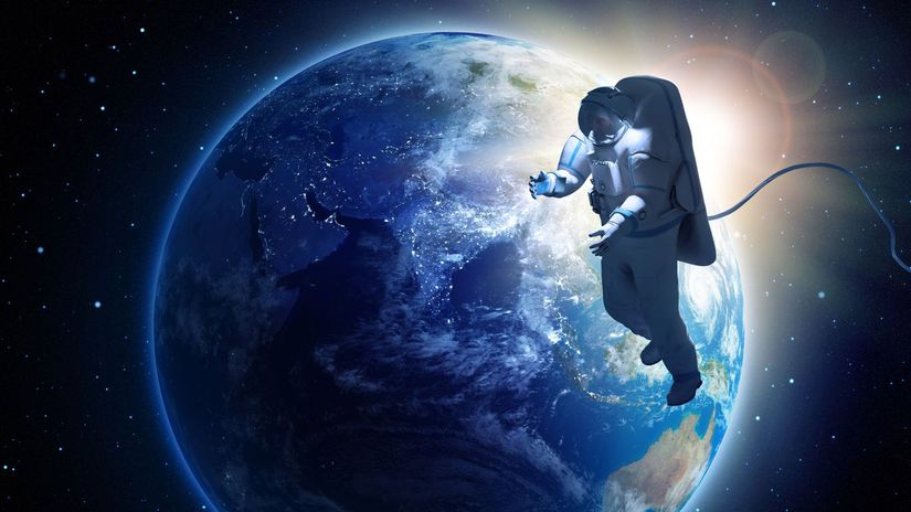 vesmír, kozmonaut