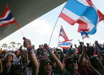 Bangkok, Thajsko, protesty, demonštrácie