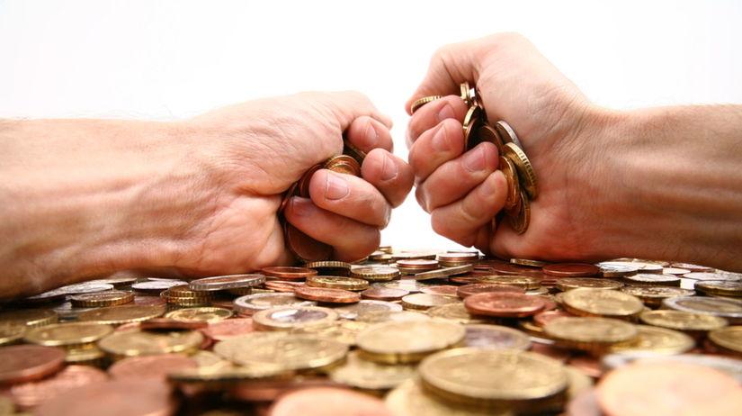 banka, poplatky, mince, peniaze