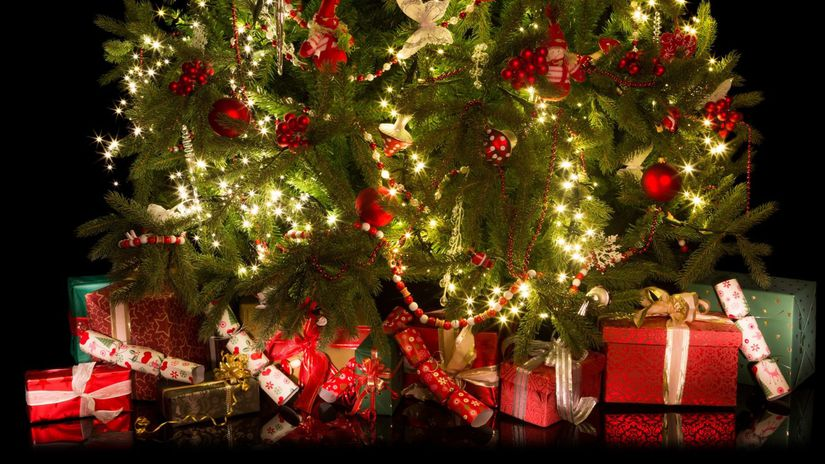 Vianoce, darčeky, stromček