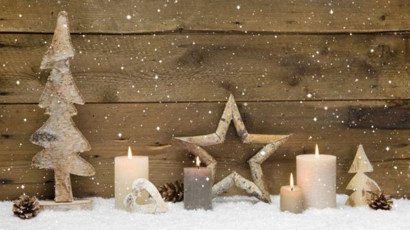 sneh, sviečka, Vianoce,