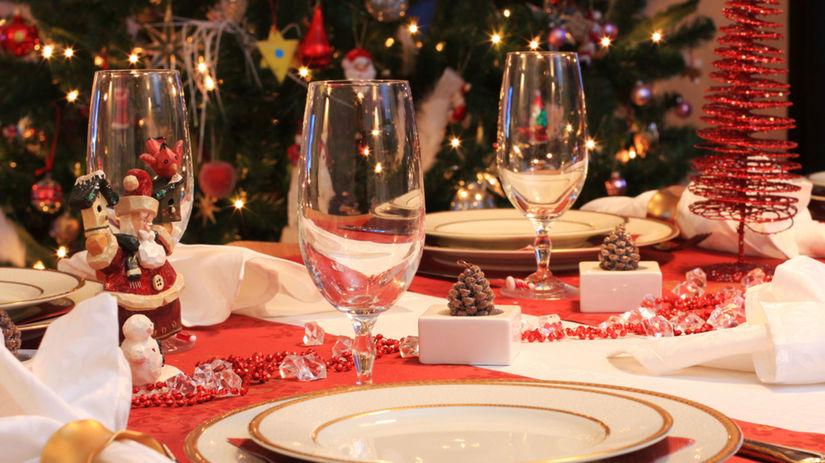 slávnostná večera, Vianoce, prestretý stôl
