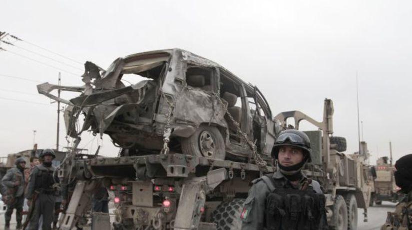 Afghanistan, Kábul, vojak, explózia