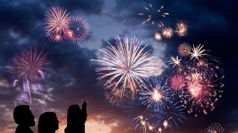 ohňostroj, oslava, párty, Silvester