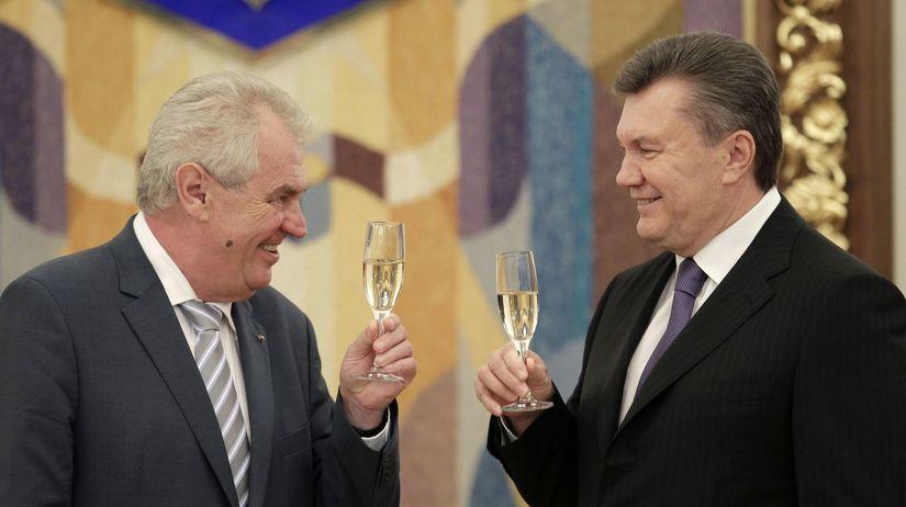 Viktor Janukovyč, Miloš Zeman