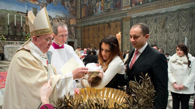 František, pápež, Vatikán, krstenie, Sixtínska...