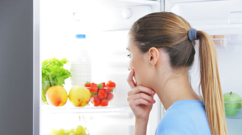 chladnička, jedlo, zelenina, strava, obed