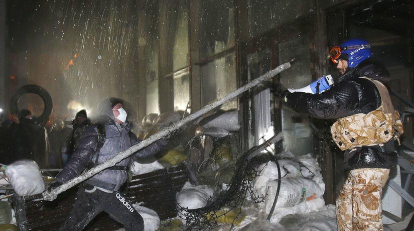 Ukrajina, demonštrácia