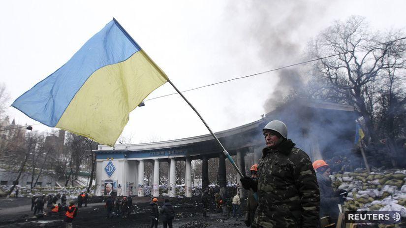 kyjev, ukrajina, vlajka, nepokoje