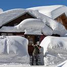 Švajčiarsko, sneh, dom
