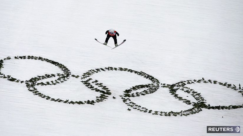 skoky na lyžiach ZOH 2014, soči, olympíjske kruhy