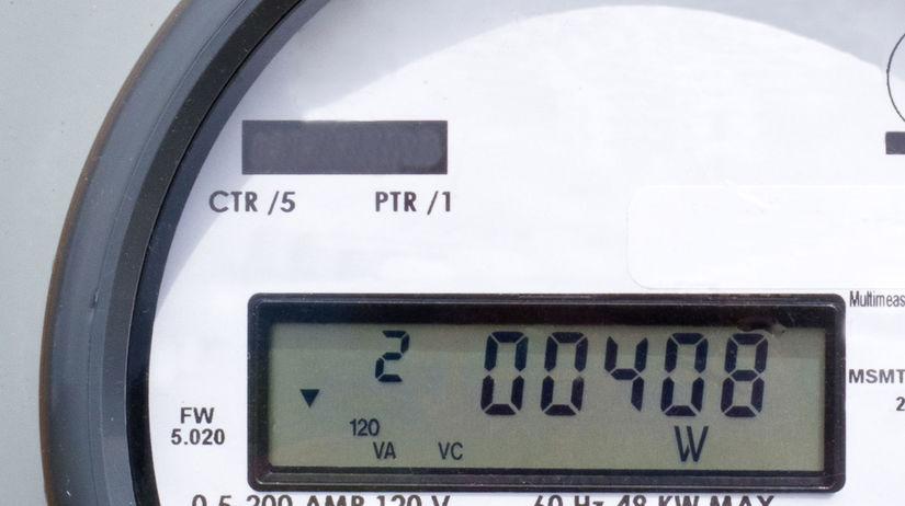 elektrina, digitálny merač