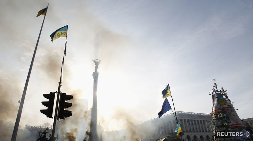 ukrajina, kyjev, protest