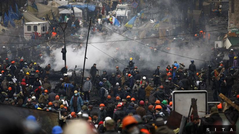 Ukrajina, Kyjev, demonštrácie