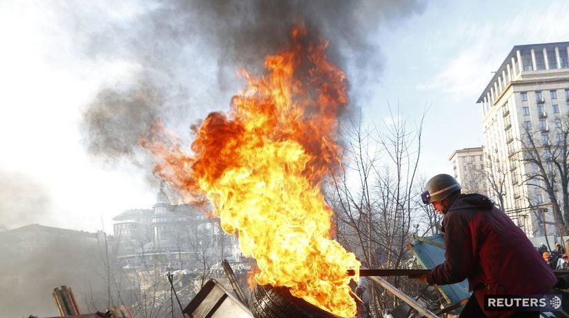Ukrajina, demonštrant