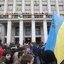 Ukrajina, Užhorod, protesty, kríza, demonštranti