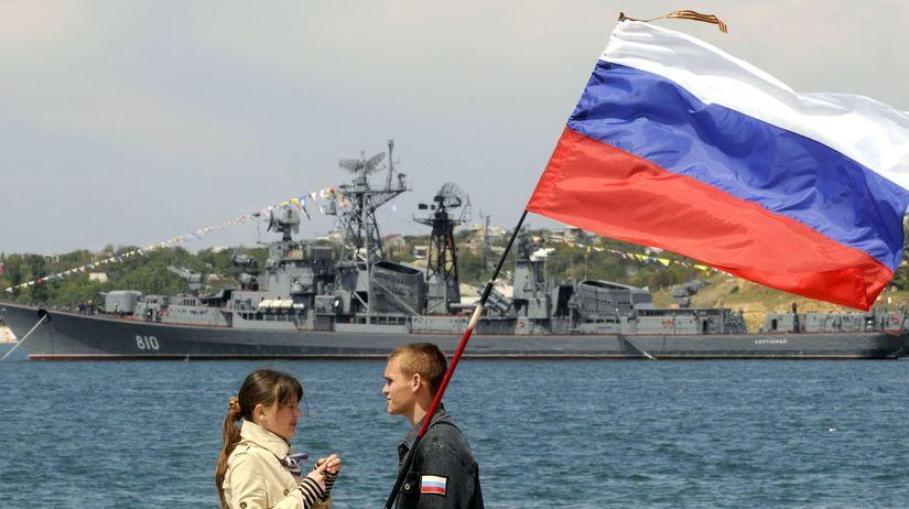 Ukrajina, Krym, Čierne more, vlajka, ruská...