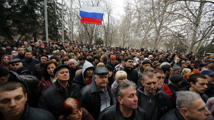 Ukrajina, Sevastopol, Rusko, demonštranti