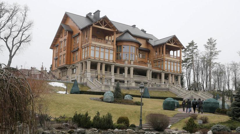 Ukrajina, Viktor Janukovyč, vila, dom, luxus,...