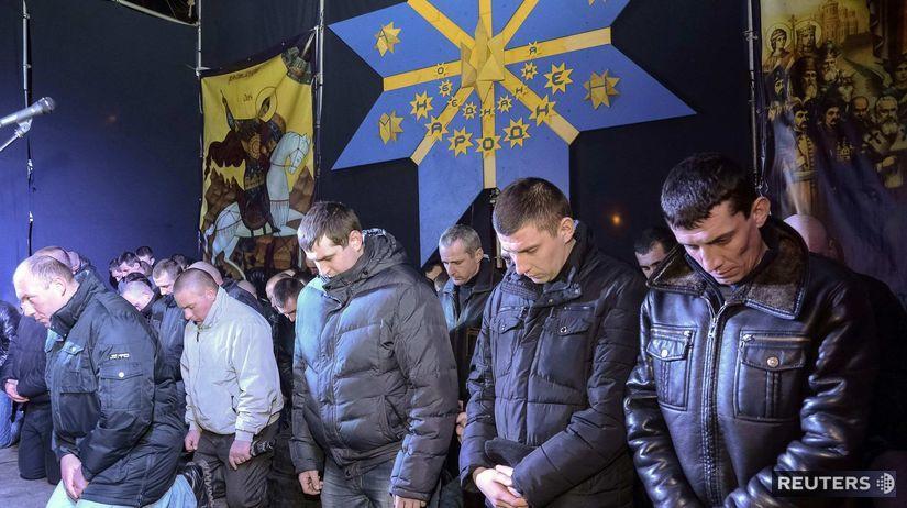 Ukrajina, Ľvov, Berkut, demonštrácie, nepokoje