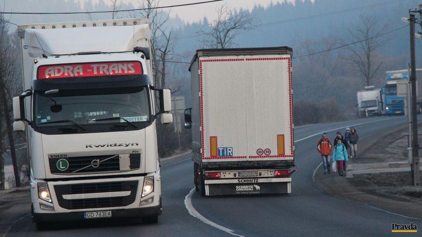 Svrčinovec, kamióny, bezpečnosť,