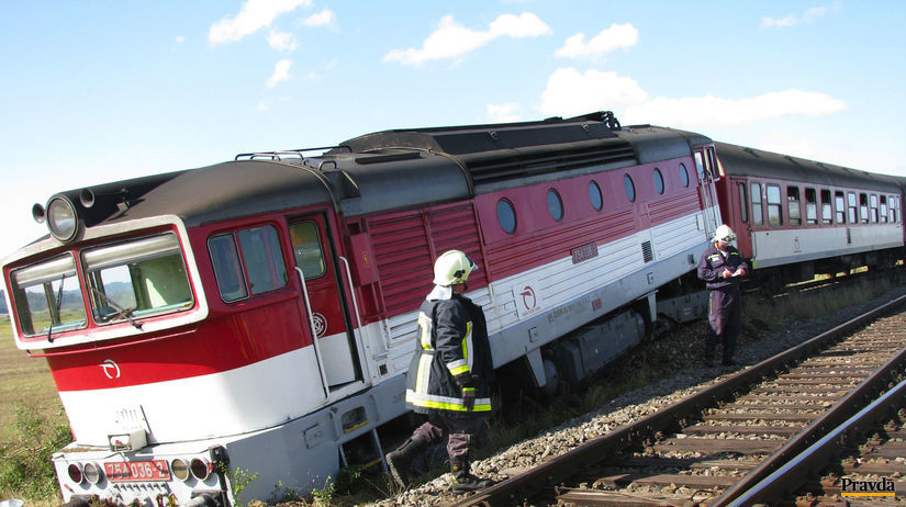 zeleznica, vlak, vykolajenie, havaria, rimavska...
