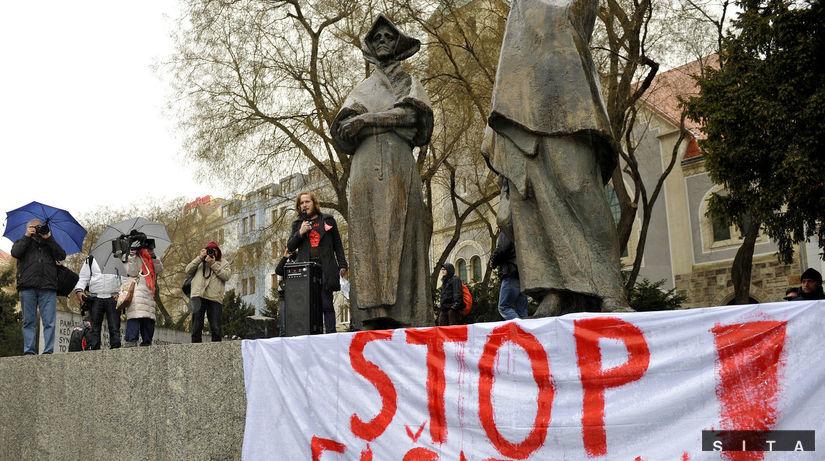 protest, antifašisti