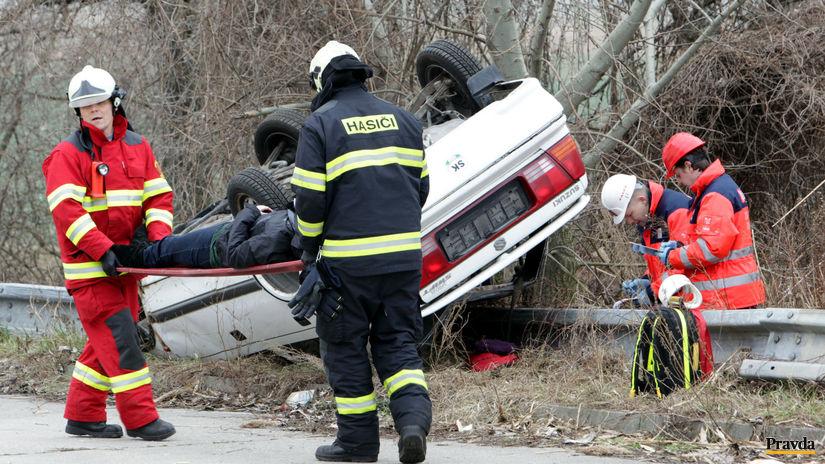 záchranári, nehoda