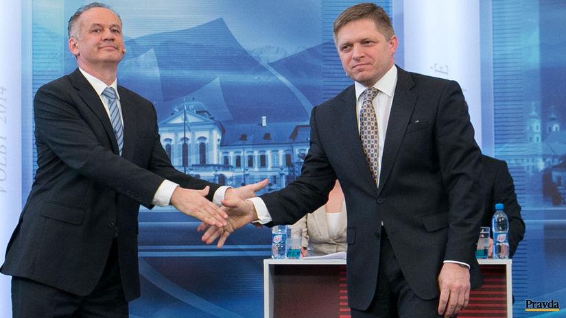 Andrej Kiska, Robert Fico, prezidentske volby...