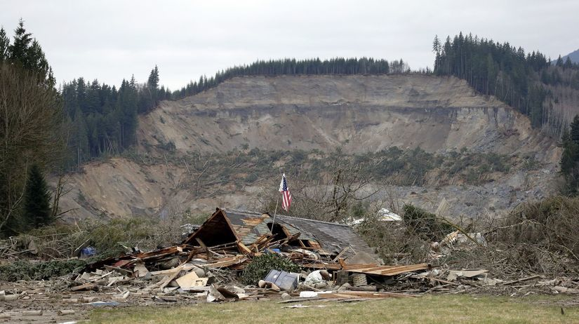 Washington, bahno, zosuv, zosuv pôdy, obete, mŕtvi