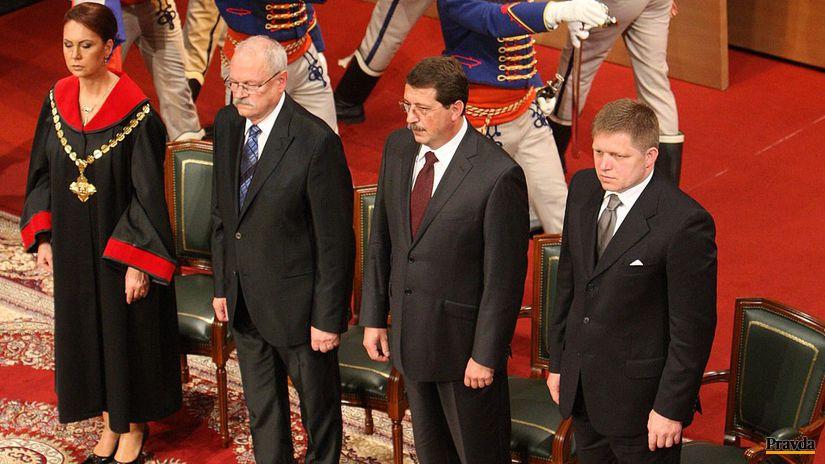 inaugurácia, Gašparovič, Fico, Paška, Macejková