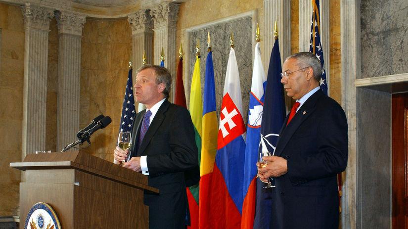 NATO, Jaap de Hoop Scheffer, Colin Powell
