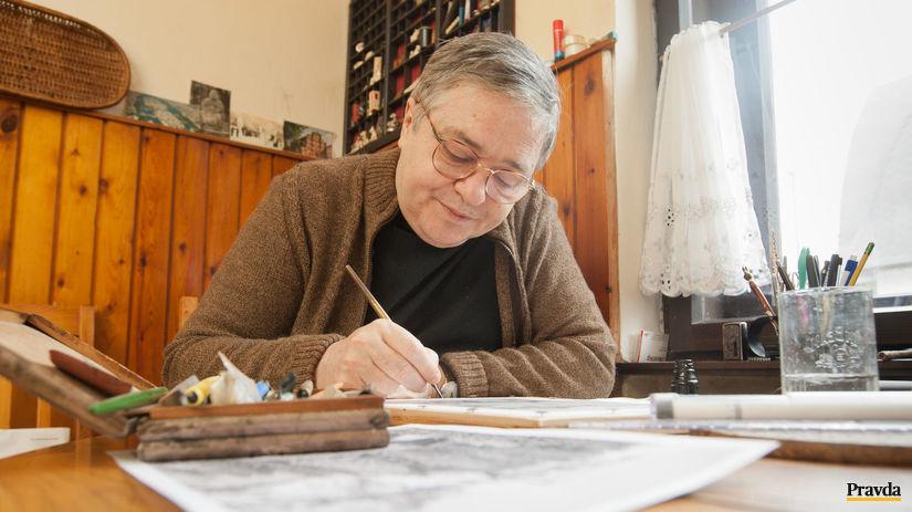 Martin Činovský, maliar, poštové známky,...